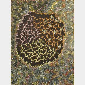Eunice Napangardi (Australian Aborigine, c. 1950-2005)      Bush Banana [Yuparli] Dreaming