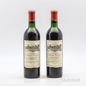 Chateau Calon Segur 1970, 2 bottles