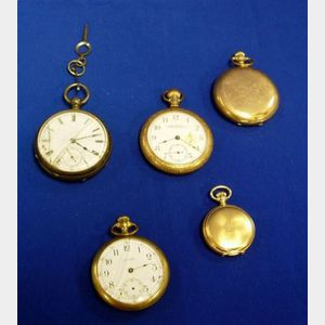 Five Waltham Pocket Watches