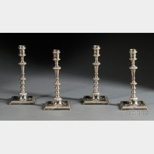 Set of Four George III Silver Candlesticks