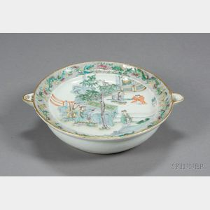 Chinese Export Porcelain Warming Plate