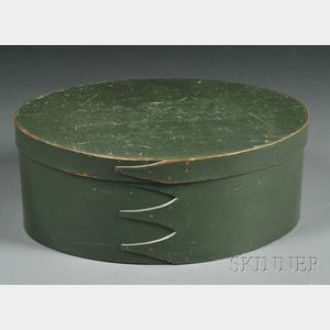 Green-painted Four-finger Lap-seam Box