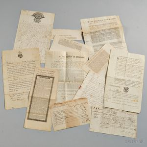 Collection of Ships' Papers and Related Documents 18th and 19th Century.