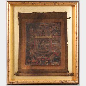 Thangka Depicting Padmasambhava