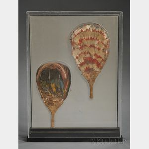 Two Pre-Columbian Feather Fans