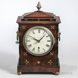 Brass-inlaid Mahogany Bracket Clock