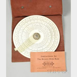 Binary Slide Rule and Other Calculating Instruments
