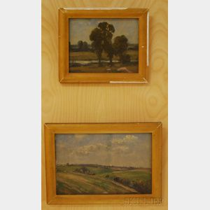 Attributed to Alfonso Toft (British, 1866-1964)      Lot of Two Landscapes: