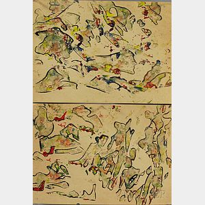 Sofia Ludvigovna Zaklikovskaya (Russian, 1899-1975)      Two Figure Studies