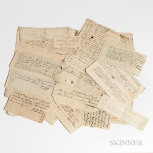 American Documents and Receipts, 18th to 19th Century.