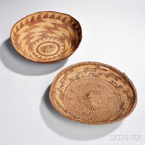 Two Northern California Twined Utility Baskets