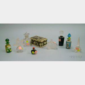 Eight Glass Perfume Bottles