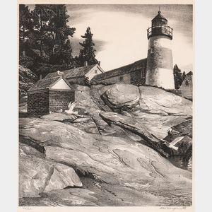 Stow Wengenroth (American, 1906-1978)      Island Light