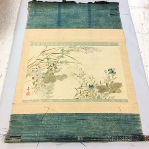 Rimpa-style Scroll Painting