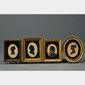 Four Framed Silhouette Portraits