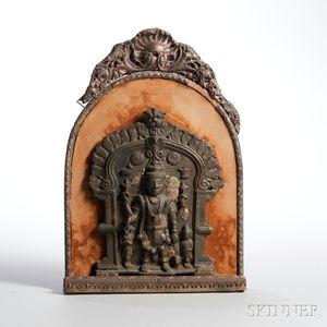 Bronze Shiva Plaque