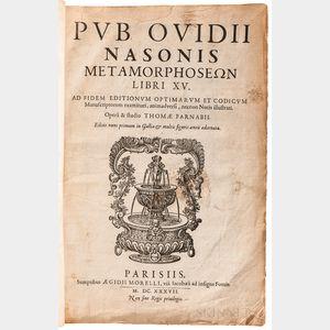Ovid (43 BC-17/18 AD), ed. Thomas Farnaby (c. 1575-1647) Metamorphoseon Libri XV.