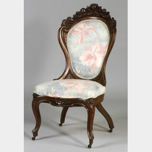 Rococo Revival Laminated Rosewood Side Chair