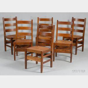 Six Gustav Stickley Chairs