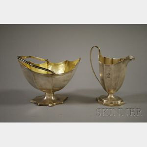 English Sterling Creamer and Sugar Bowl