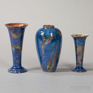 Three Wedgwood Lustre Vases