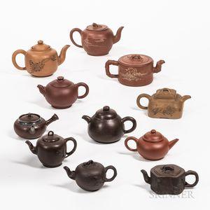 Eleven Yixing Teapots
