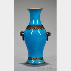 Minton Persian Blue Glazed Chinese-style Vase