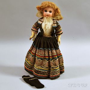 SFBJ Bisque Socket Head Girl Doll