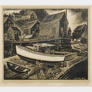 Carroll Thayer Berry (American, 1886-1978)      White and Weatherworn - Maine Coast