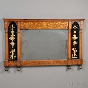 Neoclassical-style Overmantel Mirror