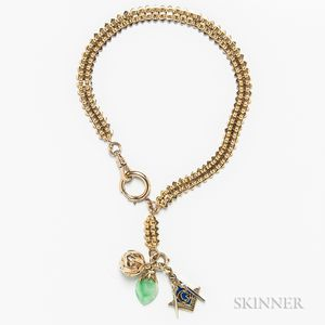 14kt Gold Watch Chain and Fobs