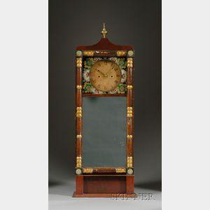 Mahogany Striking Mirror Wall Clock