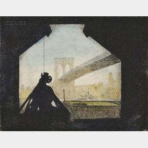 Arthur Morris Cohen (American, b. 1928)      Brooklyn Bridge