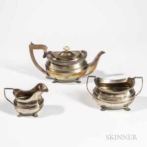 Three-piece George III Sterling Silver Tea Service