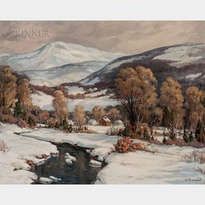 Jacob I. Greenleaf (American, 1887-1968)      Mount Washington, New Hampshire, Near Intervale
