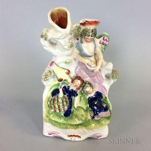 Staffordshire Ceramic Spill Vase