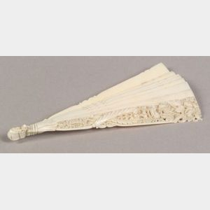 Continental Carved Ivory Fan