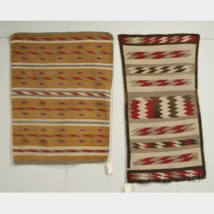 Two Navajo Banded Rugs