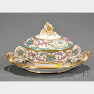 Copeland Porcelain Covered Bowl and Stand