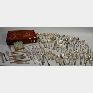 Approximately 125 Pieces of Late Victorian Silver-plated Flatware