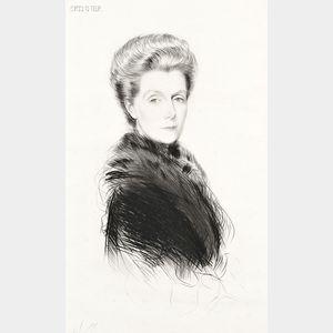 Paul César  Helleu (French, 1859-1927)      The Fur Collar.