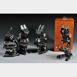 Four Modern Binocular Microscopes