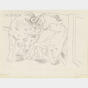 Pablo Picasso (Spanish, 1881-1973)      Taureau et Cheval