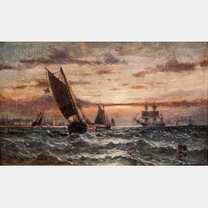 Anglo/American School, 19th Century      Coastal Scene