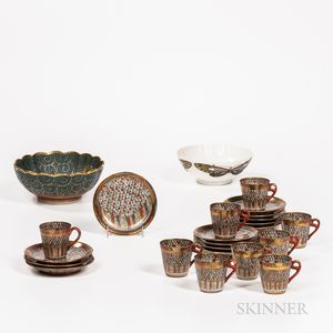 Twenty-four Gilt/Enameled Items