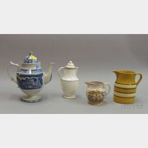 Four Earthenware Serving Items