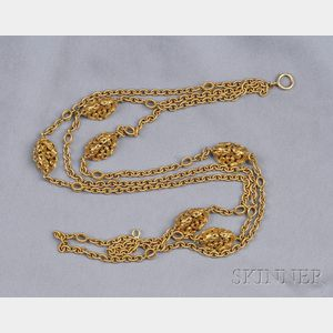14kt Gold Multi-strand Necklace