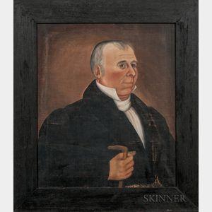 Samuel Lyman Richardson (Maine, act. 1830s)      Portrait of Colonel Daniel Lewis