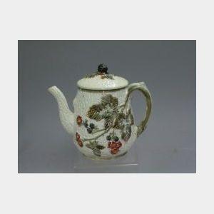 Wedgwood Blackberry Majolica Teapot.