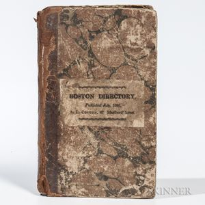 The Boston Directory; Containing Names of the Inhabitants, their Occupations, Places of Business and Dwelling Houses.